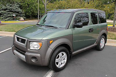 2005 Honda Element  2005 HONDA GREEN ELEMENT 4WD EX GREEN SUNROOF ALLOY WHEELS LOW MILES!