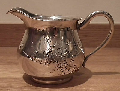 Good Antique Japanese Solid Silver Jug With Prunus Blossom - Chiyodaya
