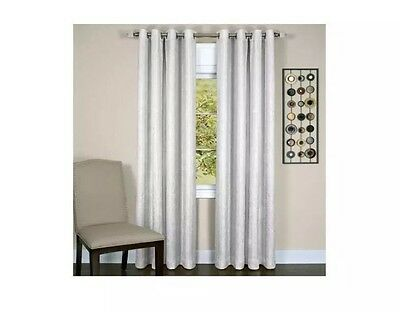 """Achim Taylor Lined Grommet Curtain Panel 50"""" X 63"""" White One Panel"""