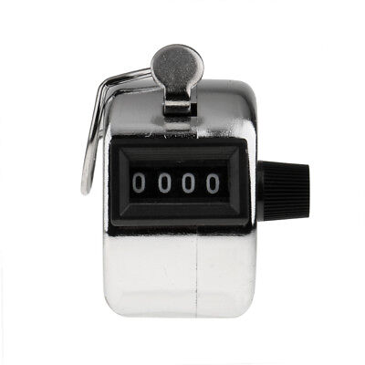 Tally Counter Hand Held Clicker 4 Digit Mechanical Palm Golf Count Recorder