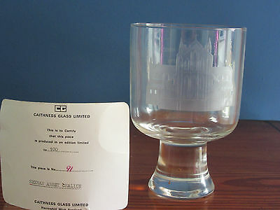 Caithness Glass Chalice Hexham Abbey - Limited Edition