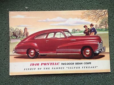 1946 PONTIAC DeLuxe Coupe post card