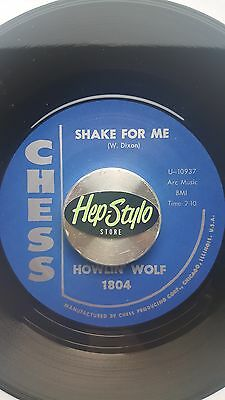 HOWLIN' WOLF 45 RE-SHAKE FOR ME/LITTLE RED ROOSTER-KILLER 50s CHESS BLUES ROCKER