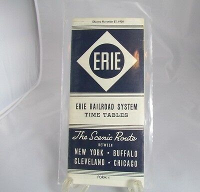 Erie Passenger Train Schedules Time Tables November 1938 The Scenic Route