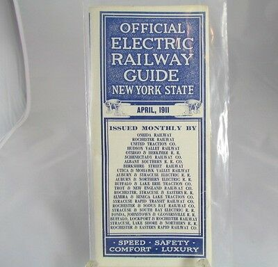 Official Electric Railway Guide Passenger Train Schedules Time Tables April 1911