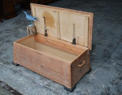 Rustic Antique Pine Chest/ Coffee Table.