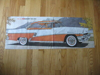 "1956 37"" by 13 1/2"" Mercury Montclair Advertising Poster"