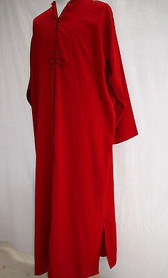 Oversized Vintage Red Hooded Kaftan Long Robe Ideal For Period Father Christmas