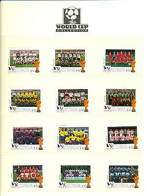 Guyana 1998 Football World Cup France A-F Mint MNH. One postage for multi buys