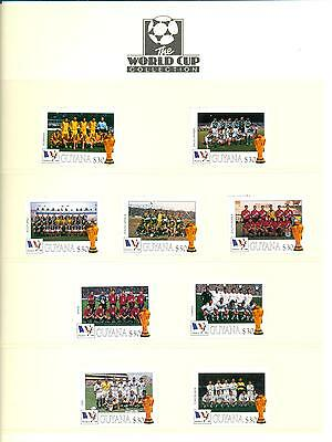 Guyana 1998 Football World Cup France R-Y Mint MNH. One postage for multi buys