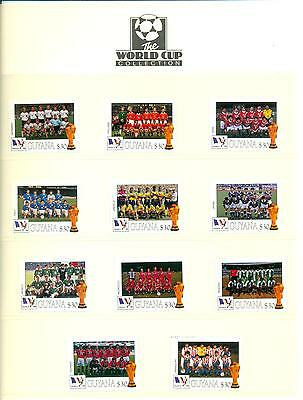 Guyana 1998 Football World Cup France G-P Mint MNH. One postage for multi buys