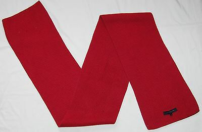 """mens red TOMMY HILFIGER scarf 9"""" x 74"""""""