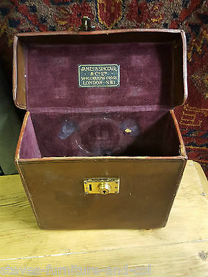 Vintage Leather Box Camera Carry Case - James A Sinclair & Co - Free Uk Post.