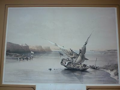 David Roberts Lithograph, Approach to the Fortress of Nubia