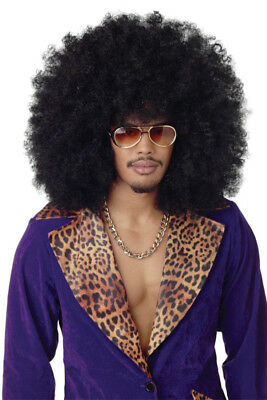 Brand New Super Pimp Daddy Jumbo Afro Curly Hair Costume Wig -  Black