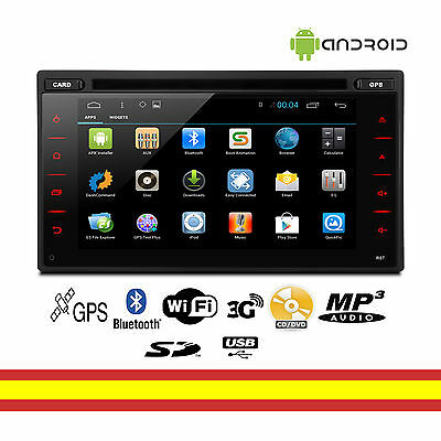 Equipo multimedia para coche Android 2DIN Universal Bluetooth GPS