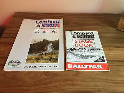 Lombard RAC Rally Official Programme November 1988 + Rare Stage Book