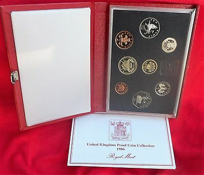 1986 Proof Set United Kingdom W/COA (HM1216F)