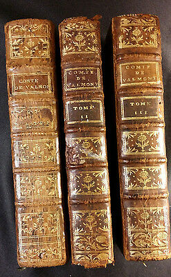 1775s Lot of 3 books The Comte de Valmont or Errors of Reason Letters Engraved