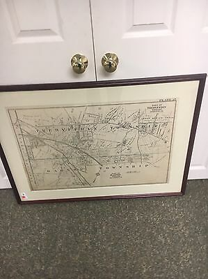 Radnor Township & Tredyffrin  Township Pa Map 1920s Framed 29 By 37  Inches