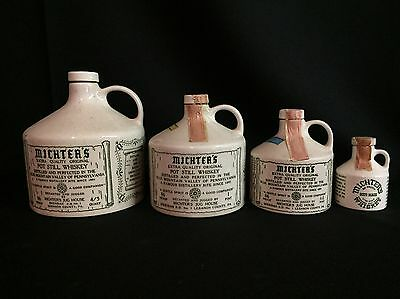 1950s Michters Whiskey Jug Set 4 - Schaefferstown PA - Lebanon County