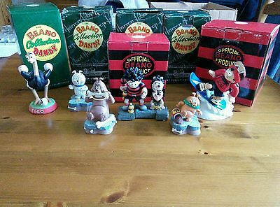 6 Robert Harrop ornaments from The Beano, Dandy Collection in box