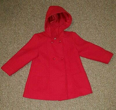 Girls red coat aged 5-6yrs