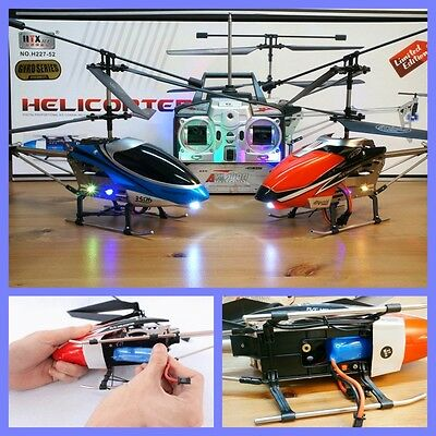 HELICOPTERO GIGANTE 47cm LIMITED EDITION 2 BATTERYS 3.5 Ch RC 27 MHz H227-52