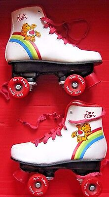 Vintage Care Bears Roller Skates 1983 Child's Size 1 American Greetings