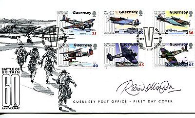 Guernsey 2000 Battle Of Britain. Fdc & P.pack Designer Signed By Robin Ollington