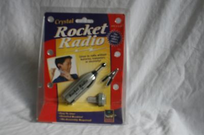 Retro Crystal Rocket Radio  by DaMert new and sealed (BH)