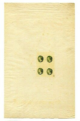 Perkins Bacon Green Die Proofs. Unwatermarked Tissue Type Paper. Turks & Caicos?