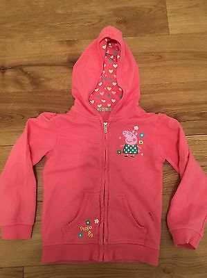 Girls Peppa Pig Pink Hoody Size 4-5 Years - Great Condition
