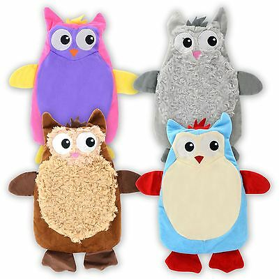 1L Litre Owl Hot Water Bottle Plush Animal Soft Warm Cosy Cover Christmas Gift