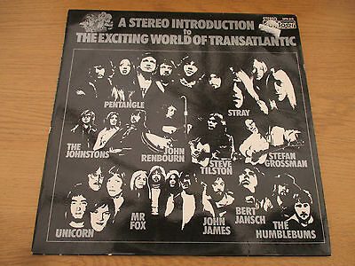 A Stereo Introduction To The Exciting World Of Transatlantic Vinyl LP Comp FOLK