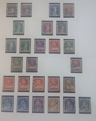 Switzerland (Helvetia) stamps,  page Used