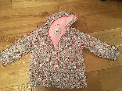 Girls Next Pink Raincoat With Hood Size 4-5 Years Great Condition