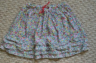 Lovely Mini Boden Pretty Floral Ruffle Twirly Skirt 4-5 Years VGC