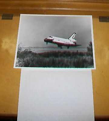 Space Shuttle Challenger Touches Down  Press Photogaph Rockwell International
