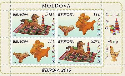 Moldova 2015 EUROPA CEPT.Old toys.MS from Booklet MNH