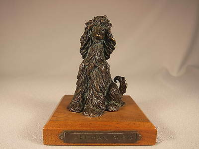 **scarce** Kay Finch Seated Bronze Afghan Hound #21/500, Signed