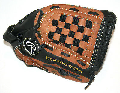"RAWLINGS Playmaker Series Leather Basket-Web Baseball Glove/Mitt 12"" RRP:$70"