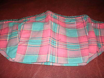 Longaberger Spring Basket Liner-  Evergreen Plaid