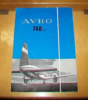 Avro 748 E Airliner Sales Brochure. Hawker Siddeley ?1961