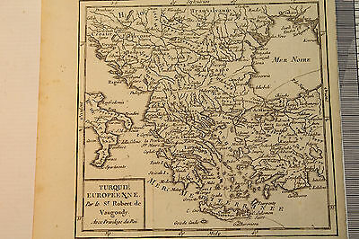 Antique Map - Turquie Europeenne - Map Showing Trachia and Aegean Sea