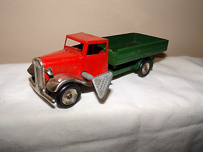 Vintage Triang Minic Lines Bros. Tin Clockwork  Lorry Minic  Open Back