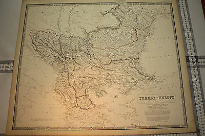 Antique Map - Turkey in Europe by A.K.Johnston F.R.G.S circa 1870