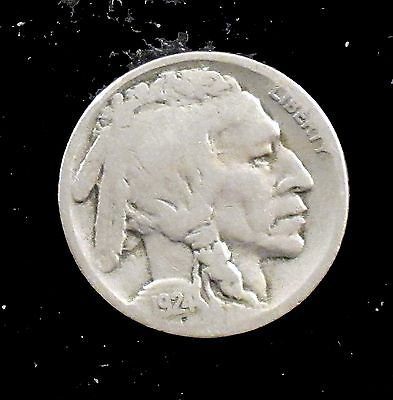 1924-S Good Details (cleaned) Buffalo Nickel - bf285