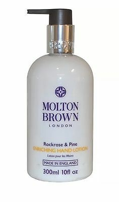 Molton Brown Enriching Hand Lotion 300ml Rockrose and Pine - Full Size New