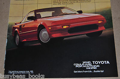 1987 TOYOTA MR2 advertisement, Toyota MR 2, red sports car